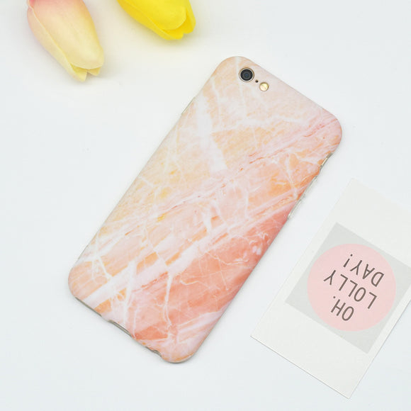 Light Pink-Orange Marble Case