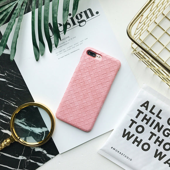Pink - Bottega Leather Case - وردي