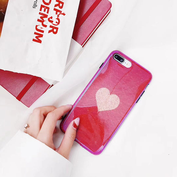 Red Case with Big Baby Pink Heart