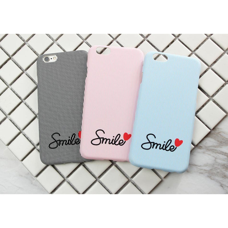 Smile Case with Hearts - Pink