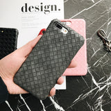 Black - Bottega Leather Case - اسود