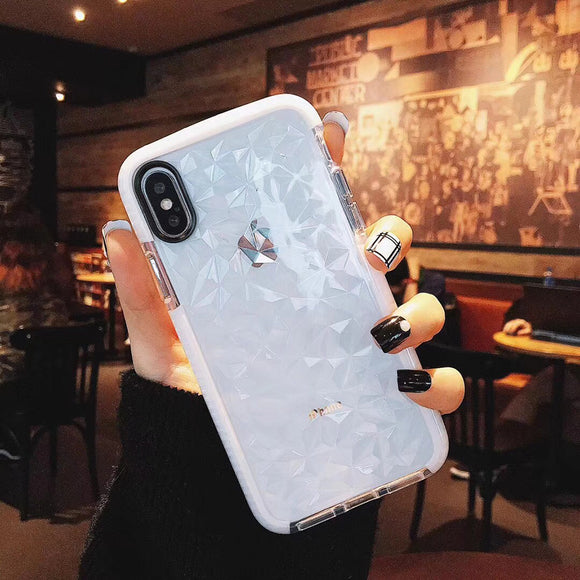 White Side Glitter Case - ابيض