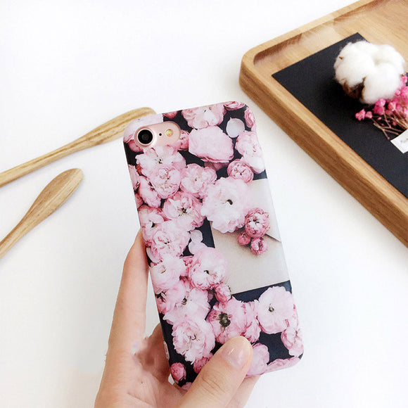 Black and Pink Flower Case