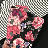 Red Pink Flower Case
