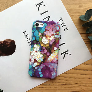 Purple Blue Flower Case