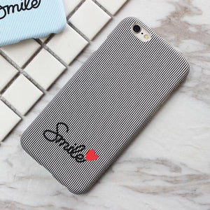 Smile Case with Hearts - Grey