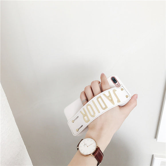 White JADIOR Case with Strap