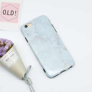 White Marble Case Light Grey Shade