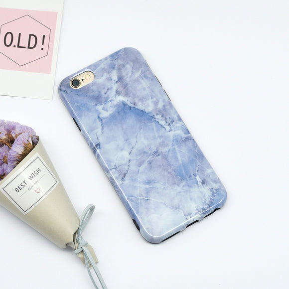 Dark Light Blue Case Marble