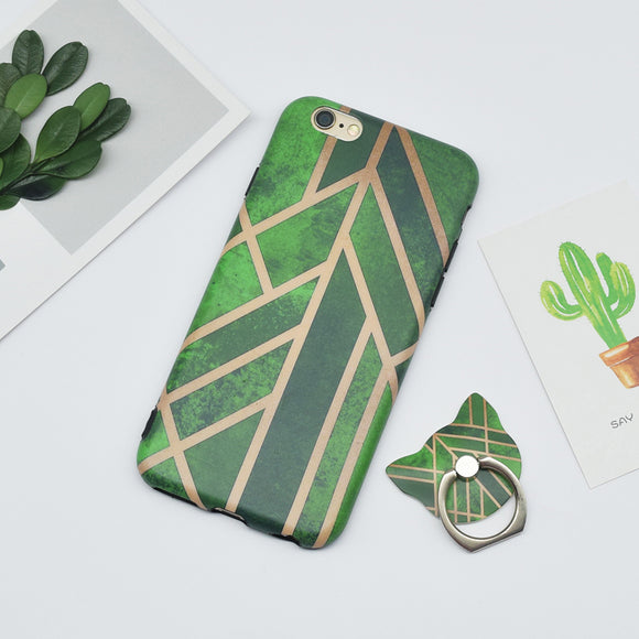 Dark Light Green Case With Ring