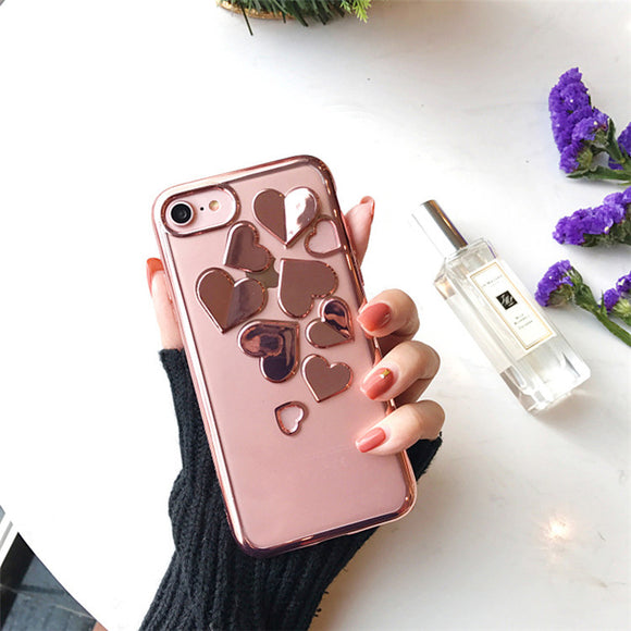 Rose Gold Heart Case