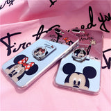 Black Mickey - Mirror Case with Ring