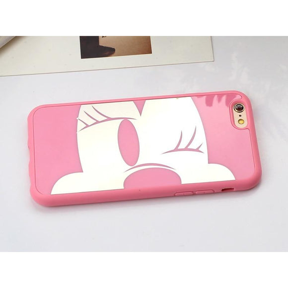 Pink Minnie Case Semi Transparent - شبه شفاف