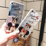 Black Mickey - Mirror Case with Ring - ميكي اسود