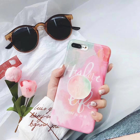 Mix Color Love Case with POP Grip - كفر مع مسكة دائرية