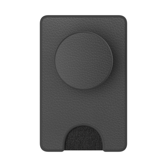POPSOCKET - POP Wallet + Pebbled Vegan Leather Black - مسكة دائرية - بوب سوكت