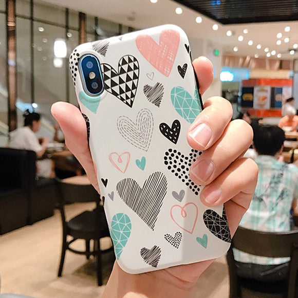 Colorful Pain Hearts Case