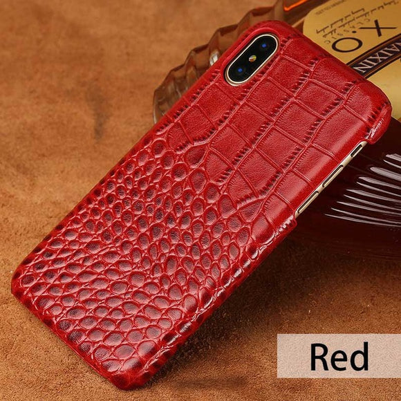 Red Luxury Leather Case