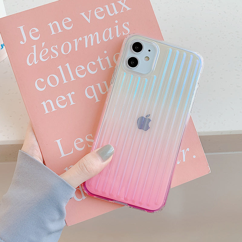 Colorful Laser Stripe Phone Case - D