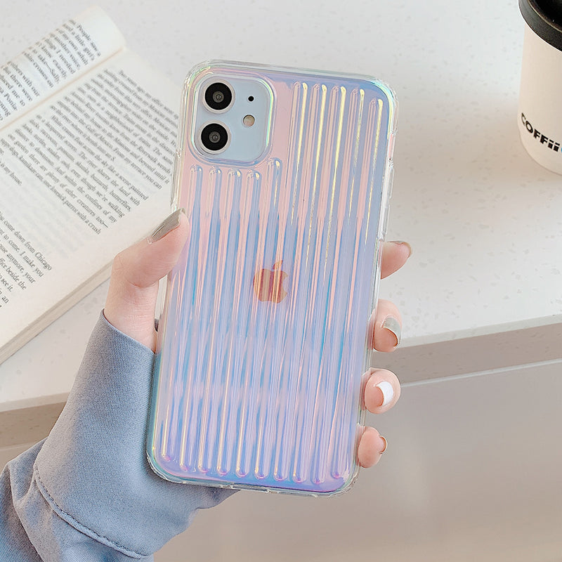 Colorful Laser Stripe Phone Case - B