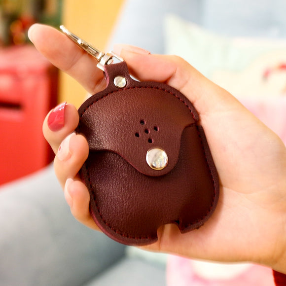 Brown Leather AirPod Case - بني