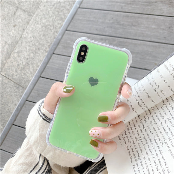 Green Anti-knock Shockproof Heart Case