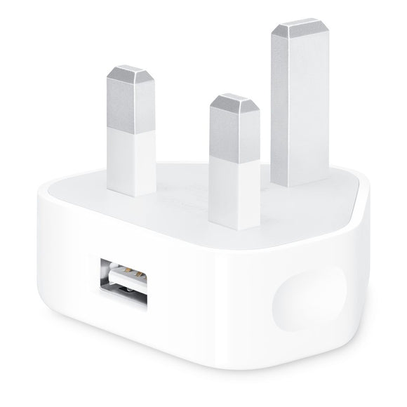 Apple 5W USB Power Adapter - White - بلاك حائط شحن ابل