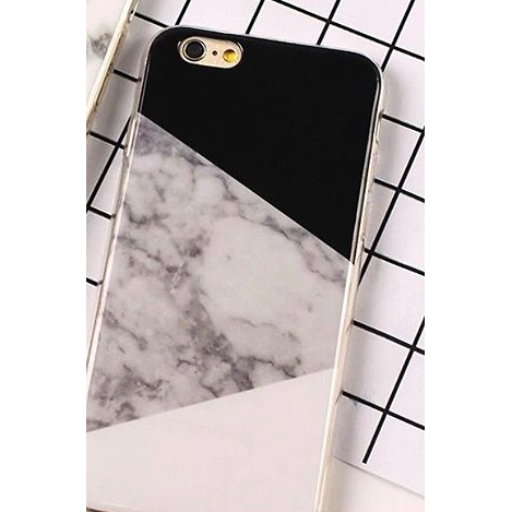 Marble Case Black-Grey-White