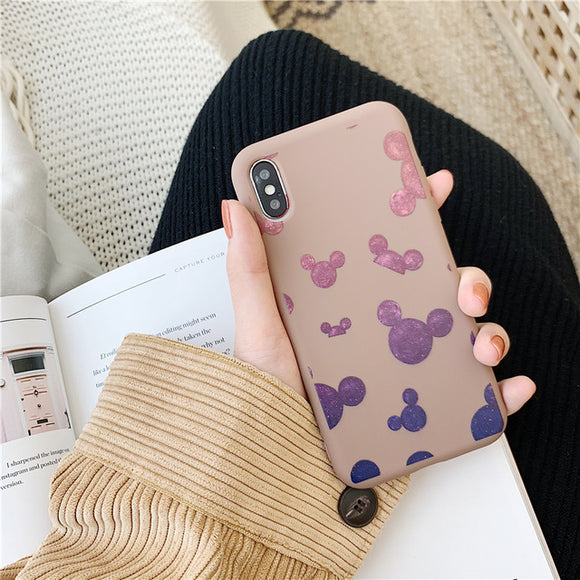 Brown Mickey Mouse Stars Case