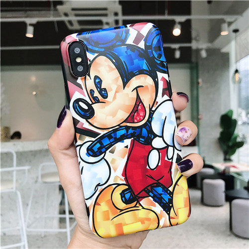 Blue Design Paint Mickey Case
