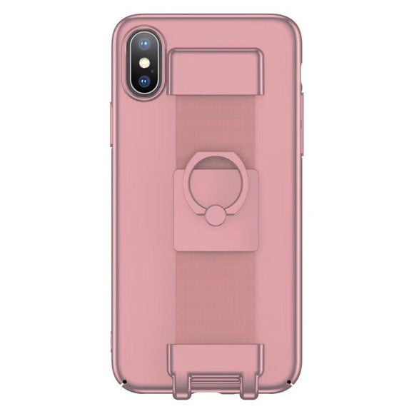 Pink Case with Strap and Ring - كفر مع مسكة وخاتم