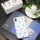 White Small Black Hearts Case