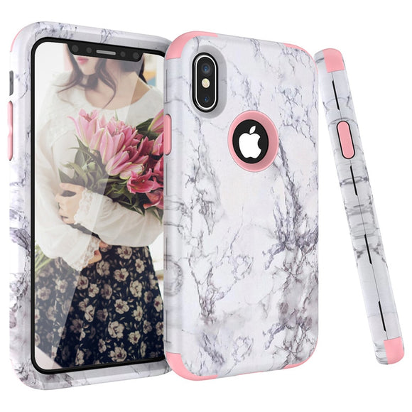 Pink White Marble Bumper Case