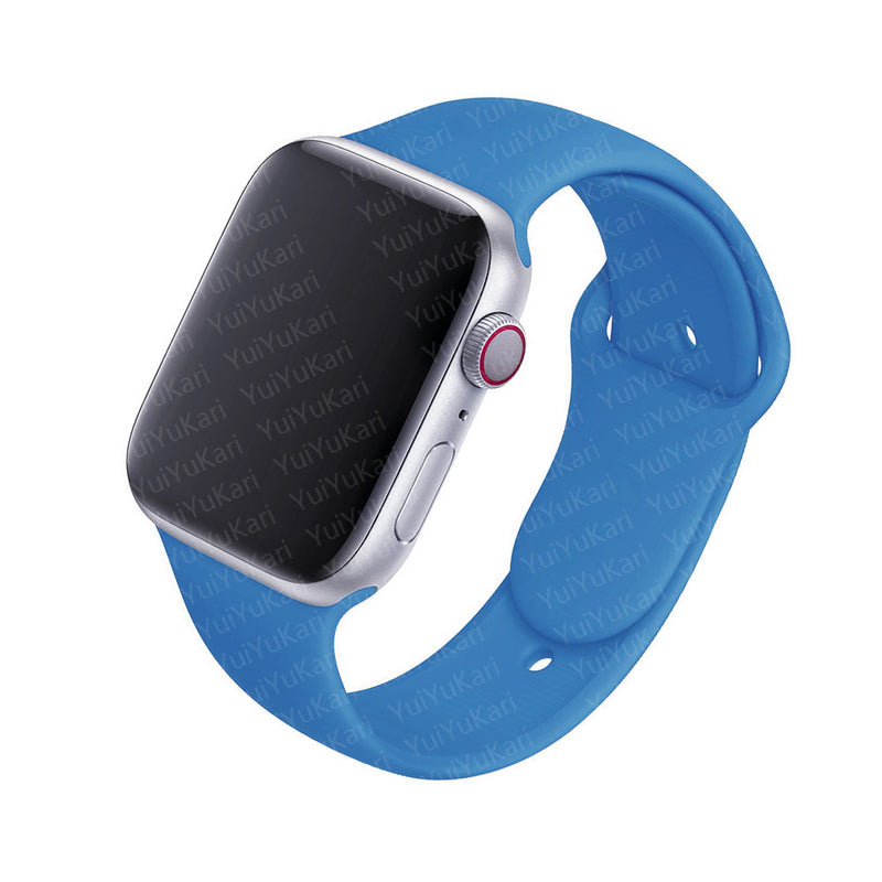 Porodo Silicon Watch Band for Apple Watch - Sky Blue - سير ساعة ابل ووتش