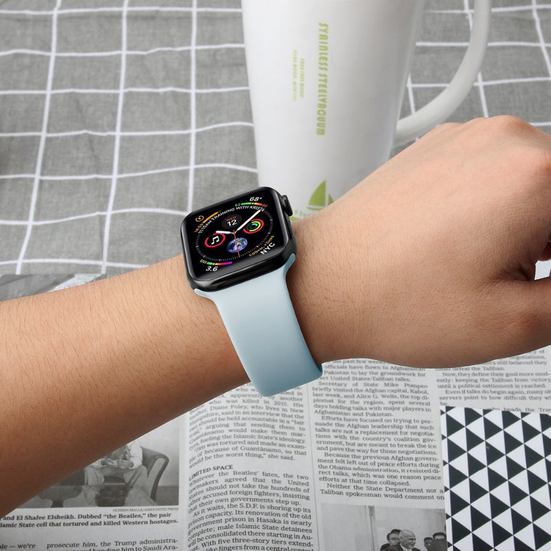 Porodo Silicon Watch Band for Apple Watch - Baby Blue - سير ساعة ابل ووتش - احمر