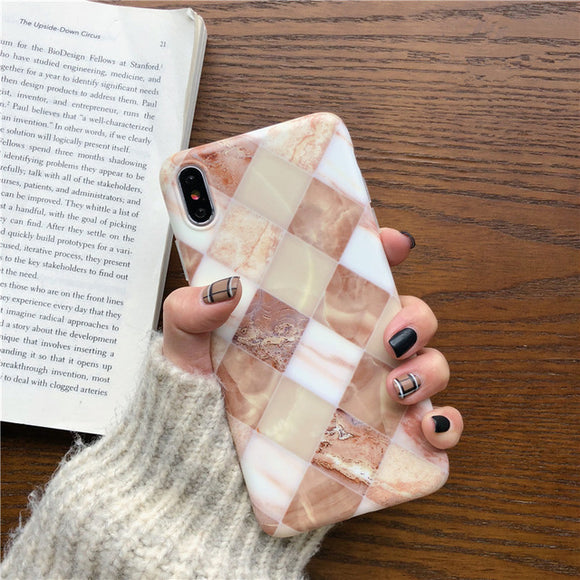 Brown Square Marble Case