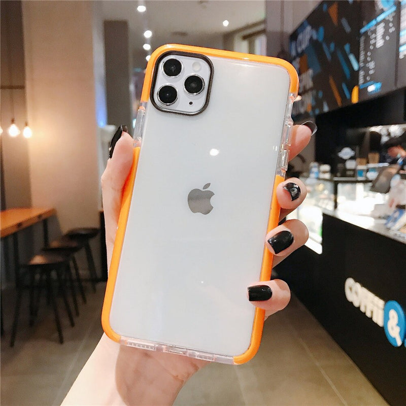 Orange Solid Clear Soft Shockproof Phone Case