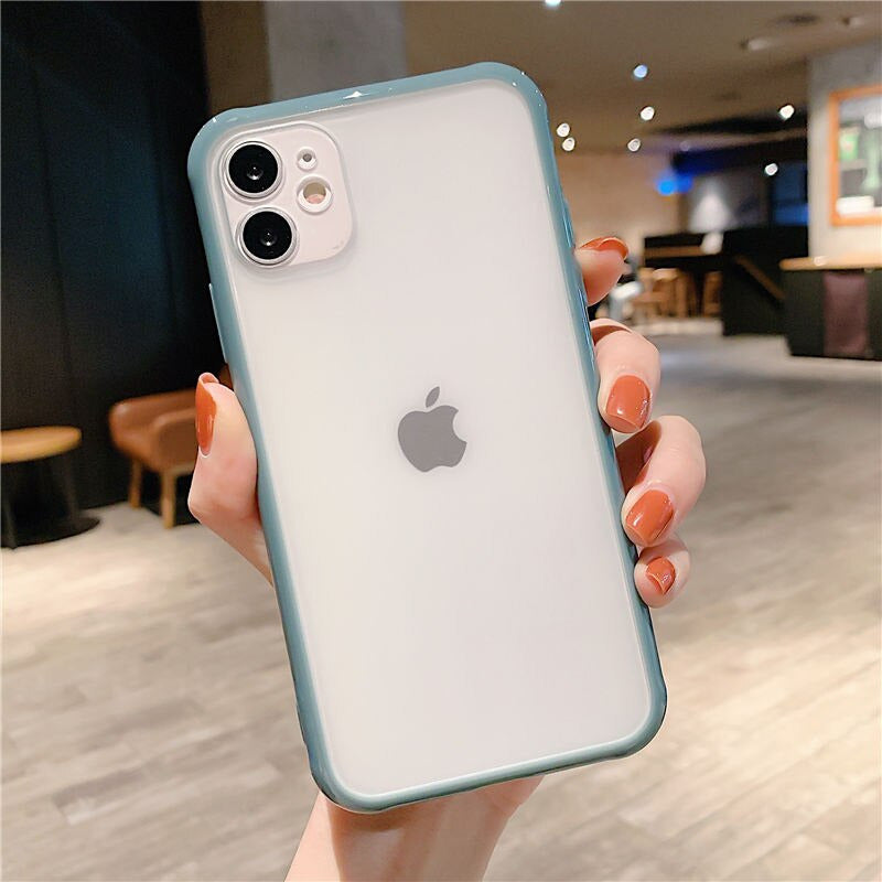 Blue Matte Bumper Transparent Phone Case