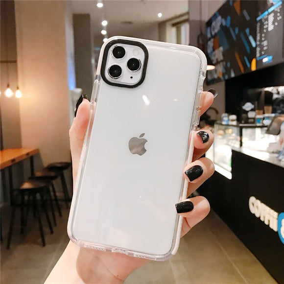White Solid Clear Soft Shockproof Phone Case