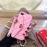 Pink Wallet Case with Chain