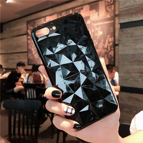 Black Transparent Diamond Case