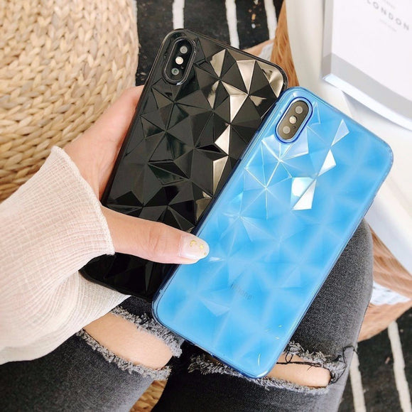 Blue Transparent Diamond Case