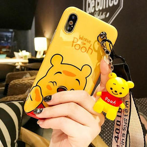 Winnie the POOH Case with Toy and Lanyard - مع الدمية والمدالية