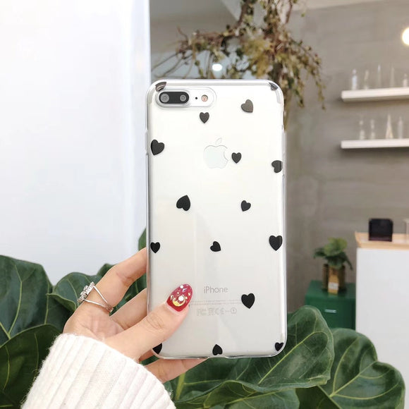 Black Small Heart Case