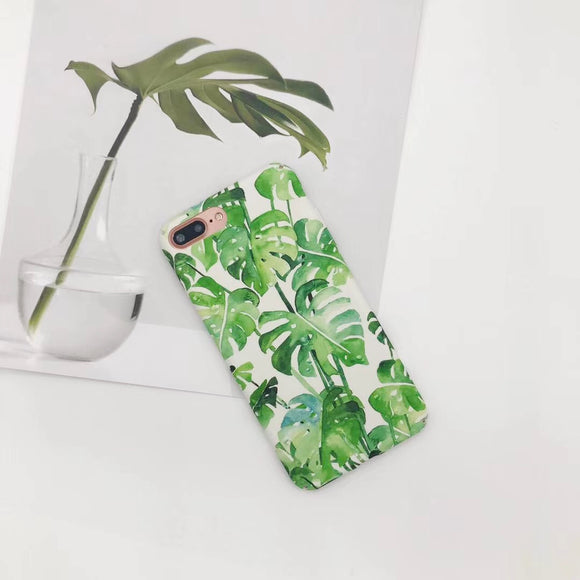 Light Green Flower Case with Leaf