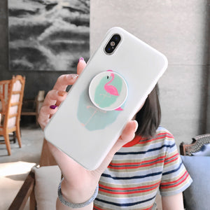 Tiffany Flamingo Case With POP Grip - كفر مع مسكة دائرية