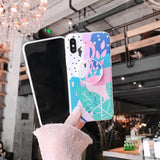 Flamingo Mix Color Case with POP Grip - كفر مع مسكة دائرية
