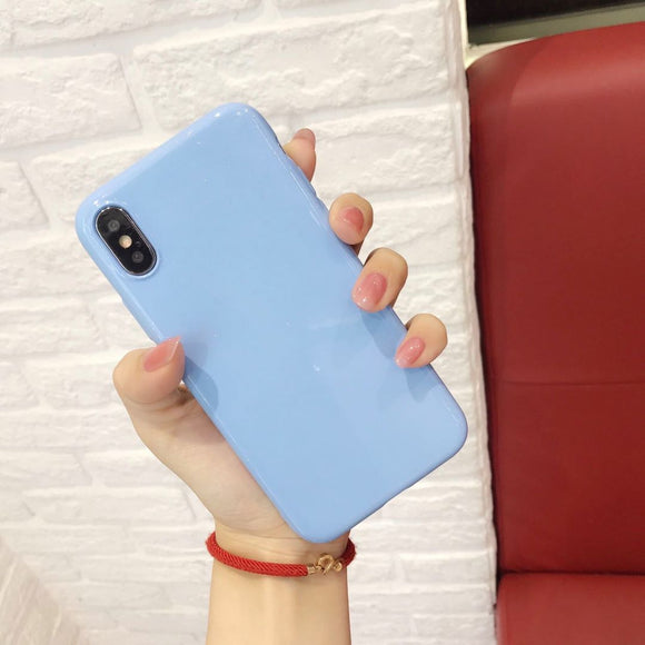 Light Blue Plain Case