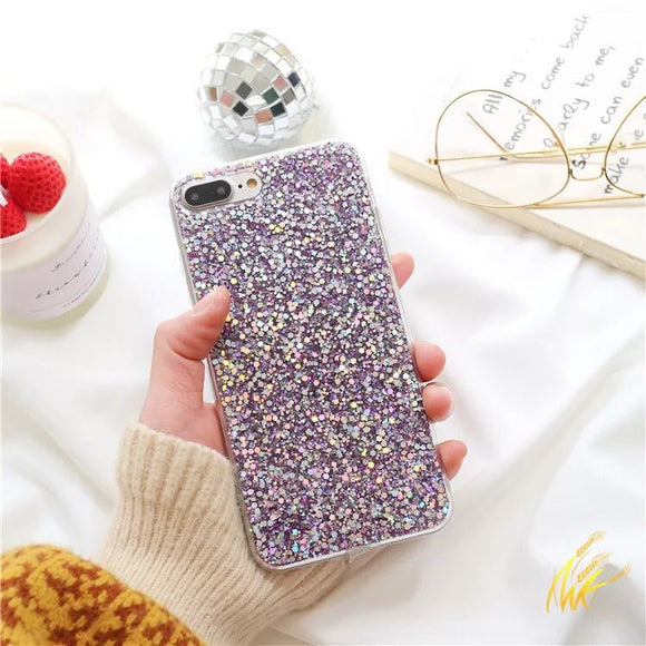 Purple Glitter Case