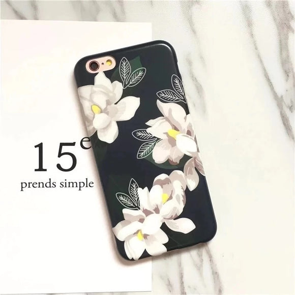 Dark Green Flower Case